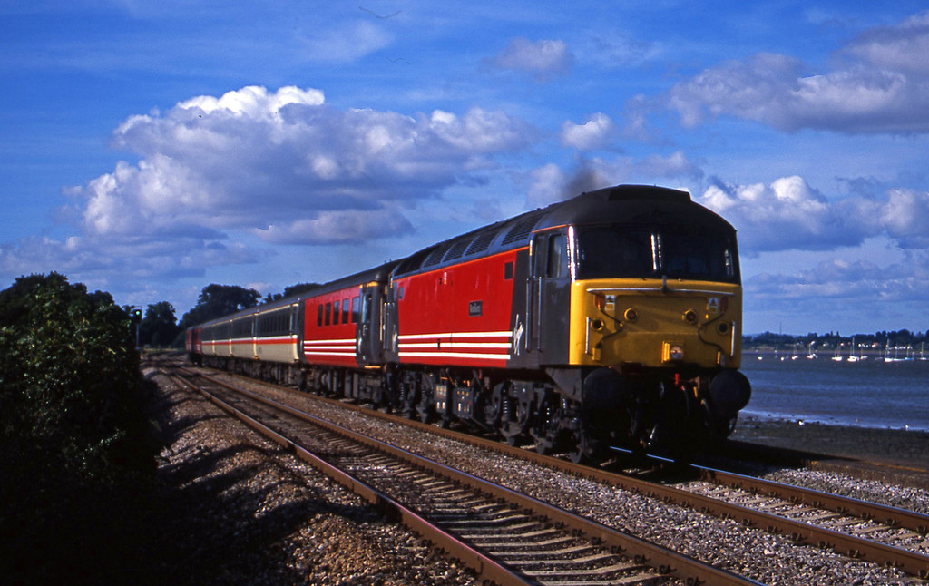47741, 08.40 Glasgow-Plymouth, Powderham, near Exeter, 4-9-01.