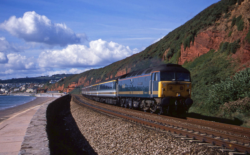 47813, 08.20 Penzance-London Paddington, Dawlish, 4-9-01.