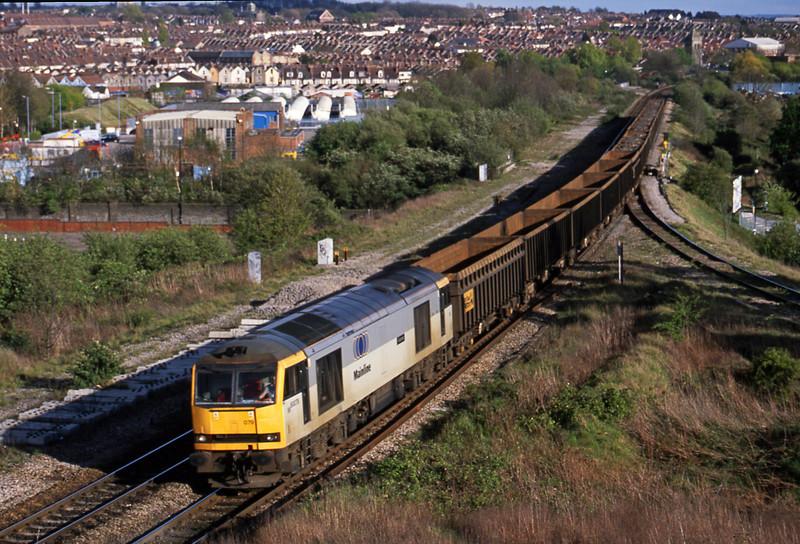 60079. 14.33 Exeter Alphington Road-Cardiff Tidal, Narroways Hill Junction, Bristol, 18-4-02.