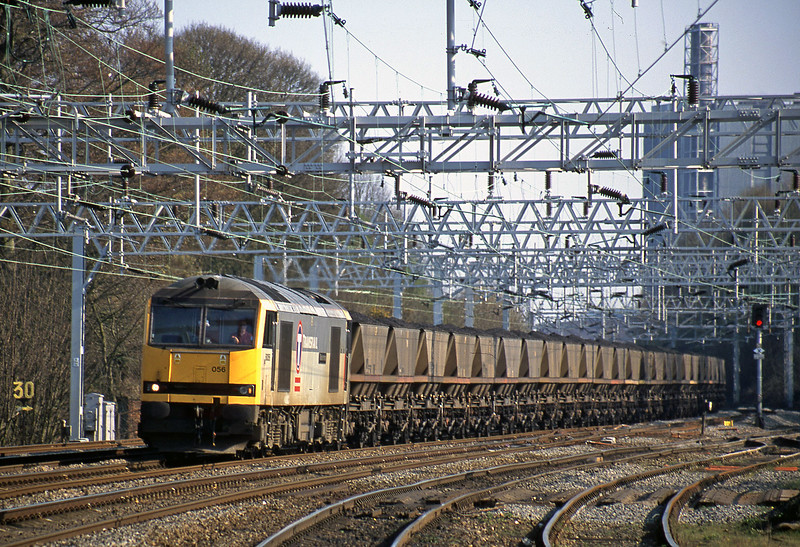 60056, down to Rugeley Power Station, Rugeley Trent Valley, 10-4-02.