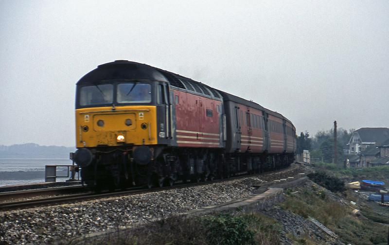 47831, 15.50 Plymouth-Leeds, Cockwood Harbour, near Starcross, 2-4-02.