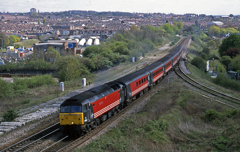47840, 11.50 Plymouth-Liverpool Lime Street, Narroways Hill Junction, Bristol, 15-4-02.