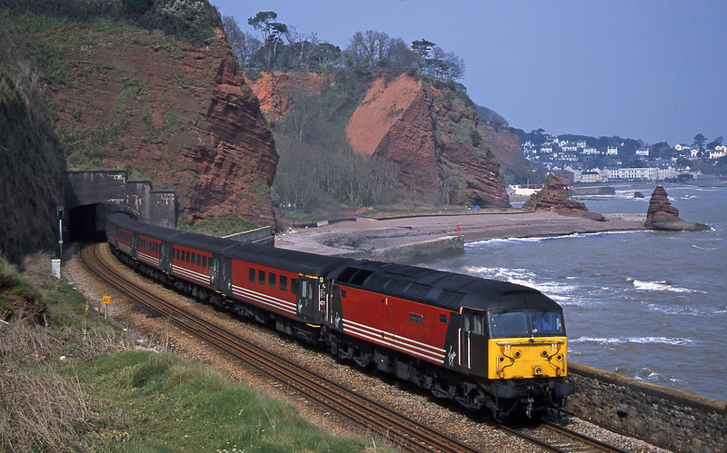 47747, 09.13 Liverpool Lime Street-Plymouth, Horse Cove, Dawlish, 9-4-02.