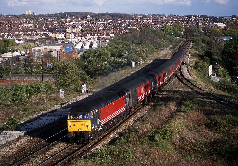 47818, 15.50 Plymouth-Leeds, Narroways Hill Junction, Bristol, 18-4-02.