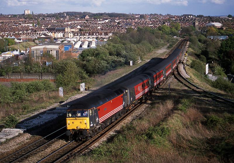47818, 15.50 Plymouth-Leeds, Narroways Hill Junction, Bristol, 18-4-02.