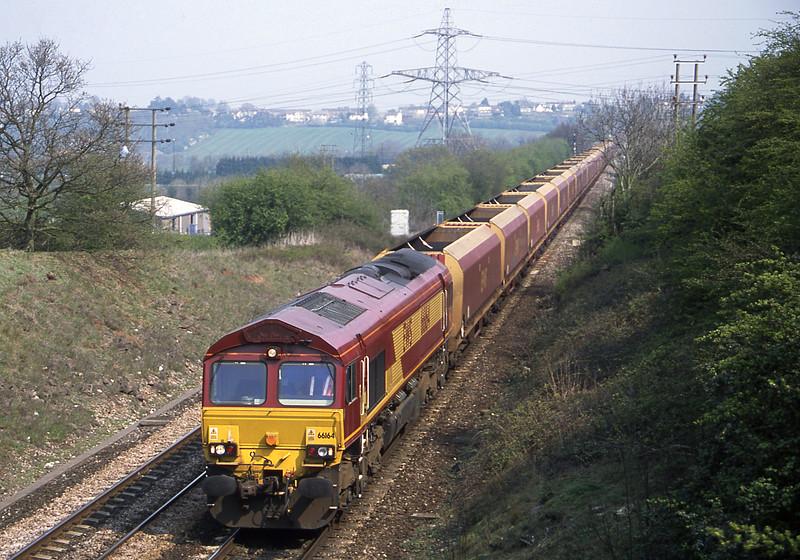 66164, Didcot Powerr Station-Avonmouth Bulk Handling Terminal, Stoke Gifford, Bristol, 12-4-02.