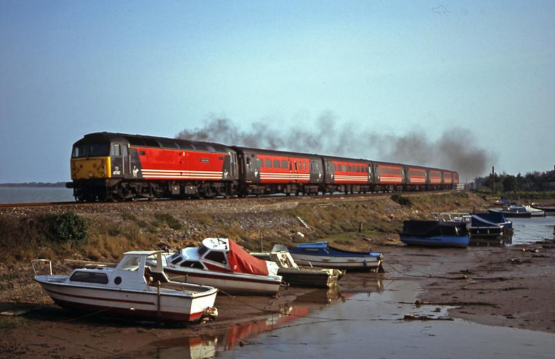 47747, 15.50 Plymouth-Leeds, Cockwood Harbour, near Starcross, 9-4-02.