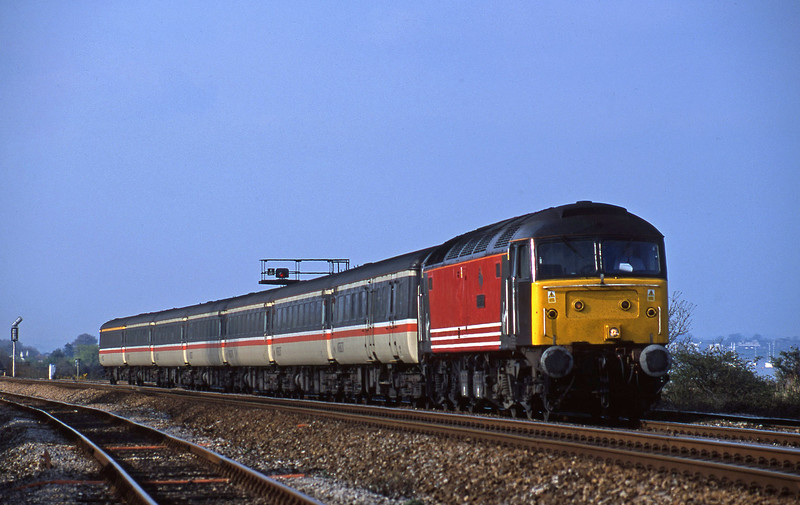 47805, 08.40 Glasgow-Penzance, Dawlish Warren 8-4-02.