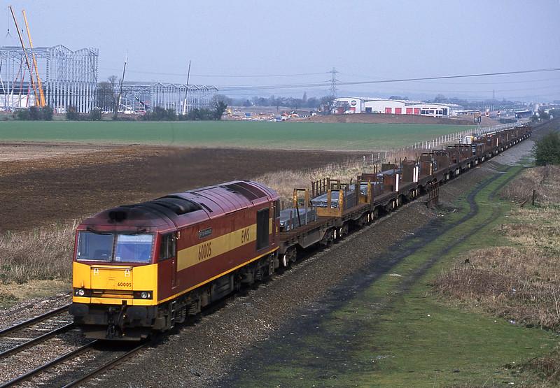 60005, 08.18 Lackenby-Llanwern, Catholme, near Burton-on-Trent, 3-4-02.