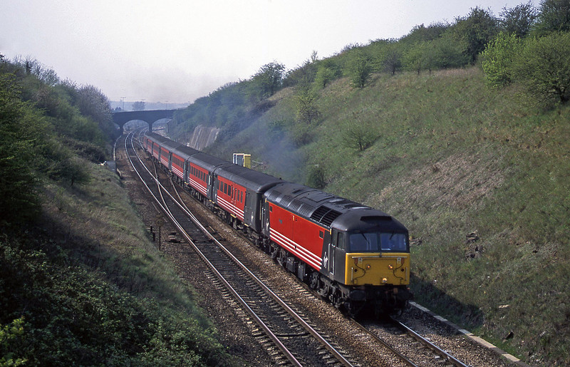 47750, 08.48 Penzance-Manchester Piccadilly, Stoke Gifford, Bristol, 12-4-02.