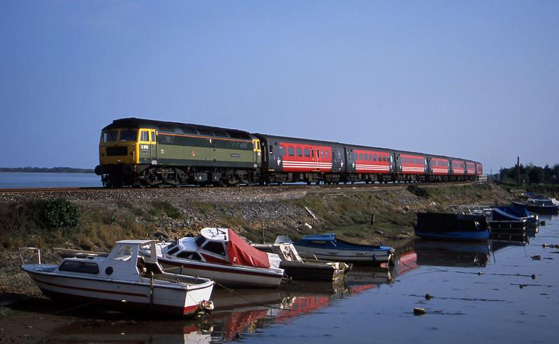 47851, 15.55 Plymouth-Leeds, Cockwood Harbour, near Starcross, 8-4-02.