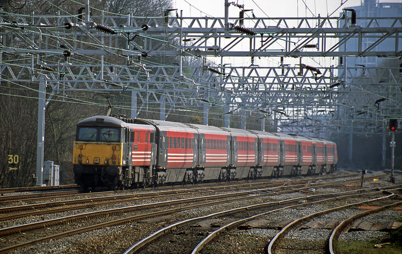 87002, 13.26 Manchester Piccadilly-London Euston, Rugeley Trent Valley, 3-4-02.