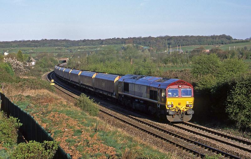 66218, 07.21 Avonmouth Bulk Handling Terminal-Didcot Power Station, Brentry, Bristol, 15-4-02.