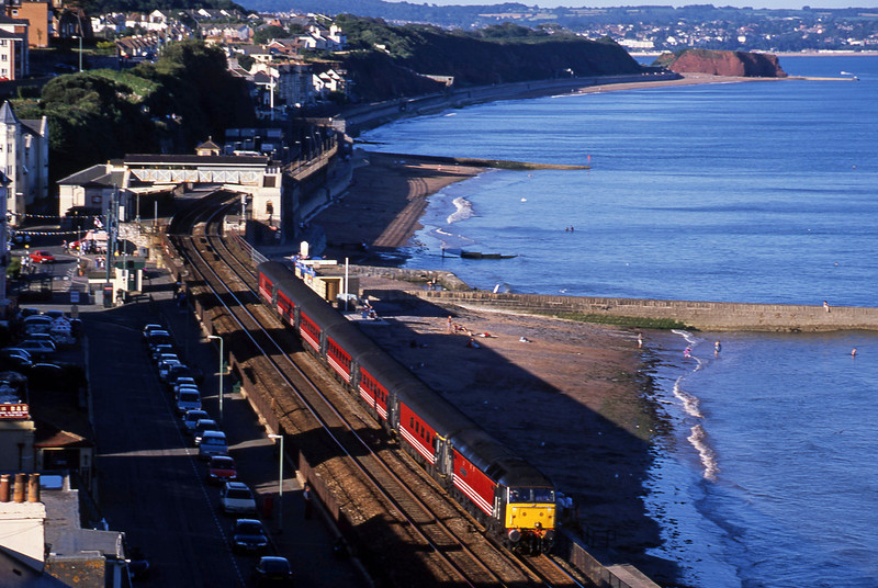 47828, 08.40 Glasgow-Penzance, Dawlish, 12-8-02.