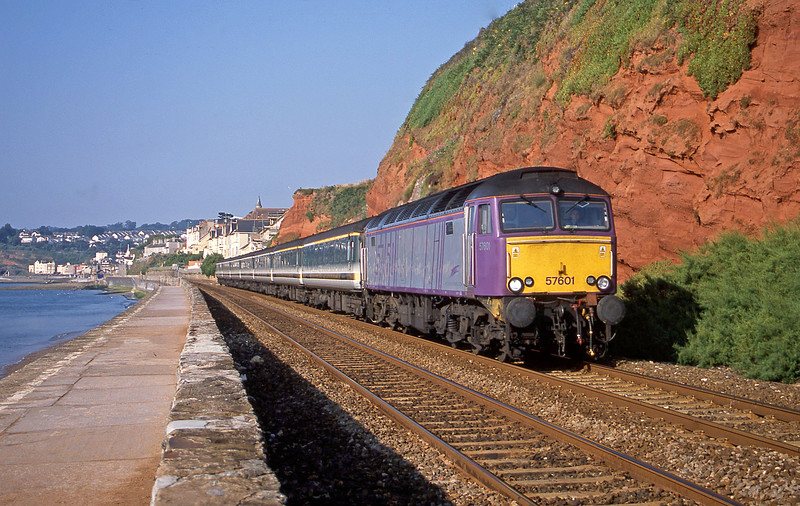 57601, 07.30 Plymouth-London Paddington, Dawlish, 6-8-02.