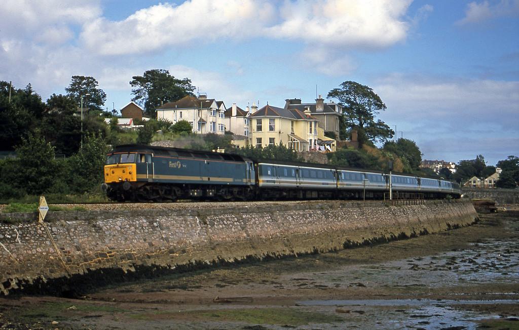 47832, 12.33 London Paddington-Plymouth, Shaldon Bridge, Teignmouth, 13-8-02.