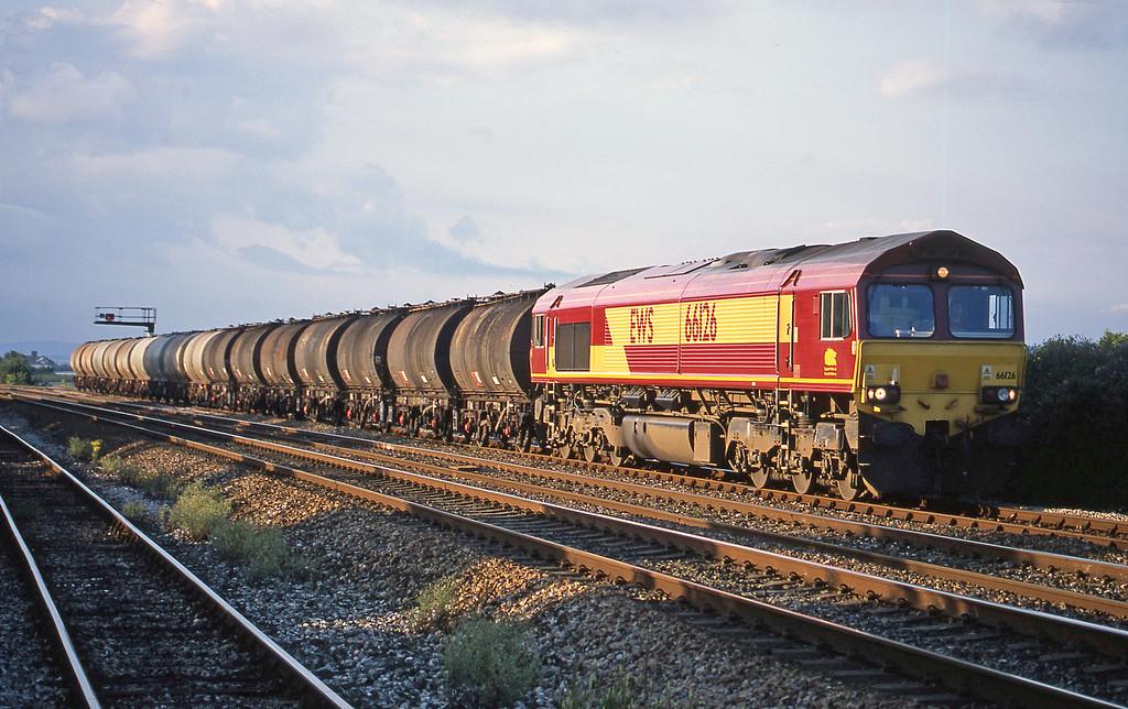 66126, 13.34 Fawley-Plymouth Tavistock Junction Yard, Dawlish Warren, 2-8-02.