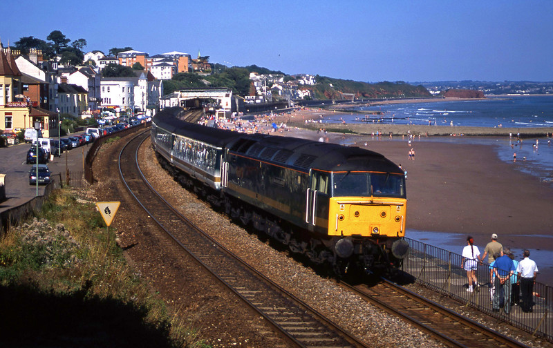 47815, 12.33 London Paddington-Plymouth, Dawlish, 27-8-02.