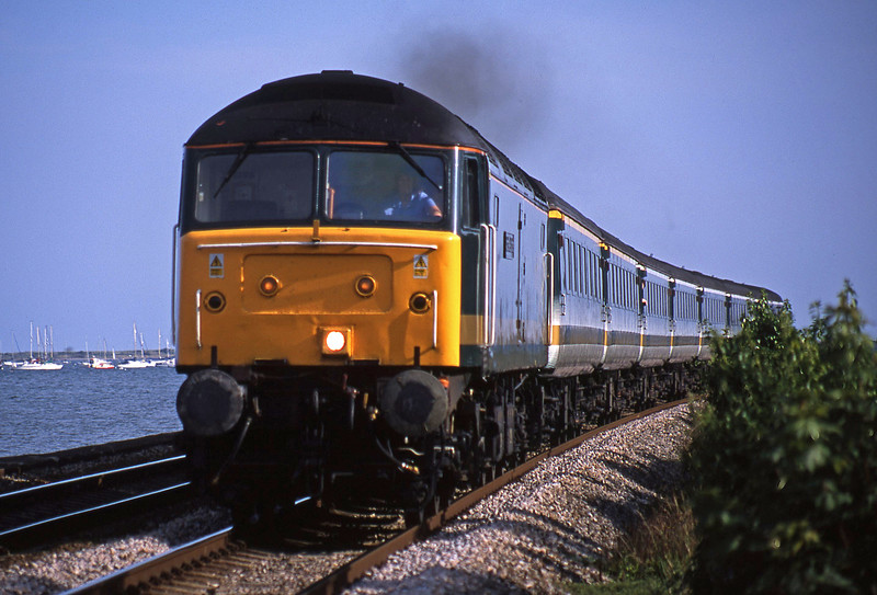 47815, 16.38 Plymouth-London Paddington, Powderham, near Exeter, 6-8-02.