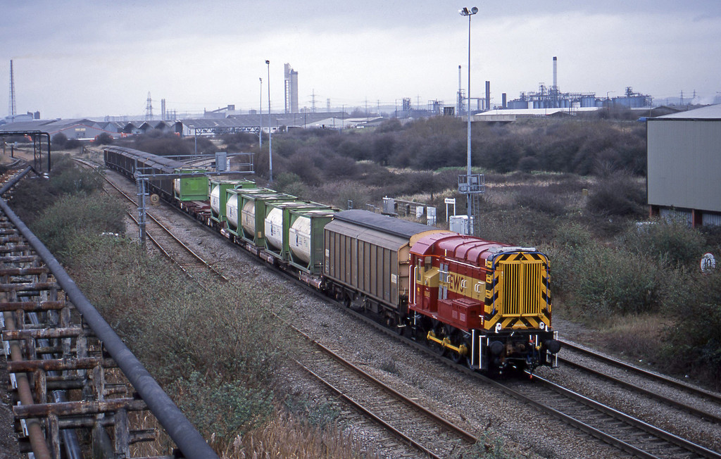 08685, Avonmouth Bulk Handling Terminal-Avonmouth Docks, Hallen Marsh Junction, 19-2-02.