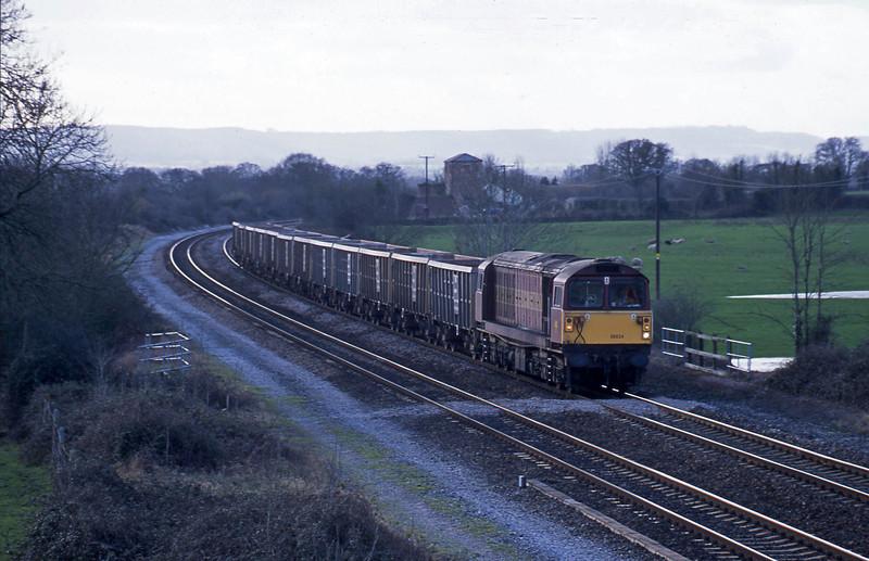 58024, Exeter Riverside Yard-Westbury, Cogload, 6-2-02.