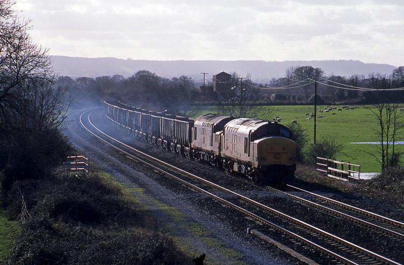 37669/37109, 10.30 Meldon Quarry-Westbury, Cogload, 6-2-02.