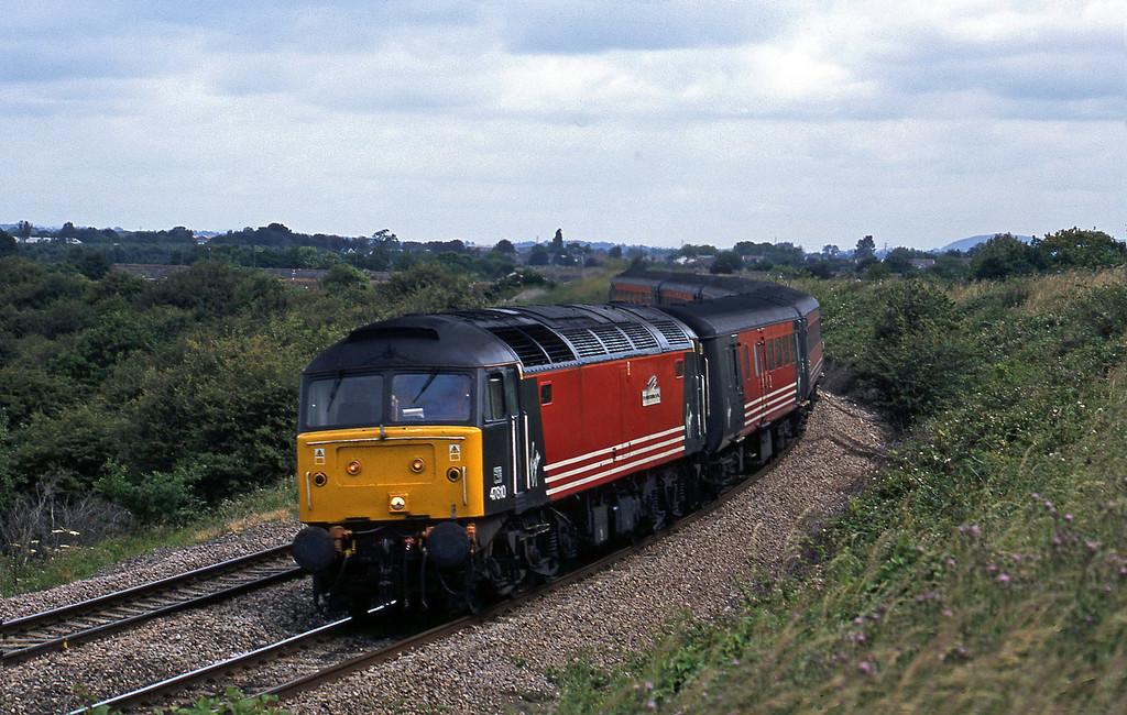 47810, 06.40 York-Bristol, Westerleigh Junction, near Bristol, 4-7-02.