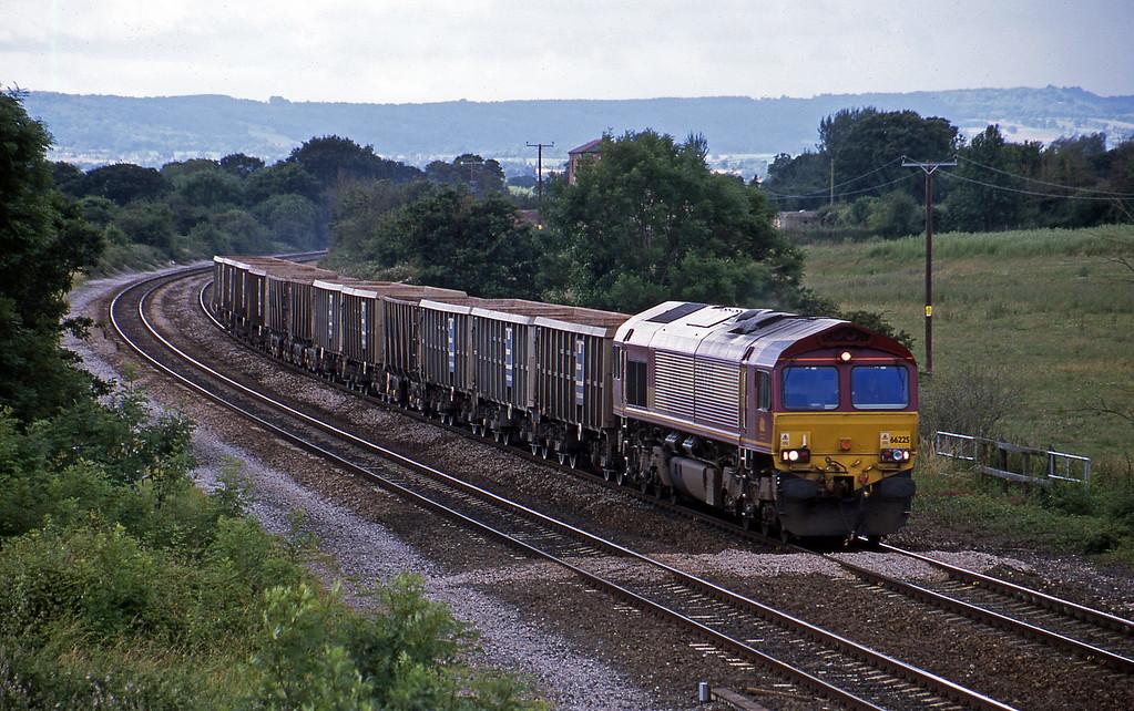 66225, 10.30 Exeter Riverside Yard-Westbury Yard, Cogload, 10-7-02.