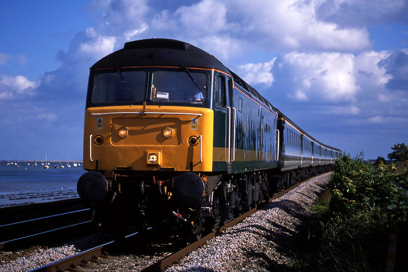 47815, 16.35 Plymouth London Paddington, Powderham, near Exeter, 3-7-02.