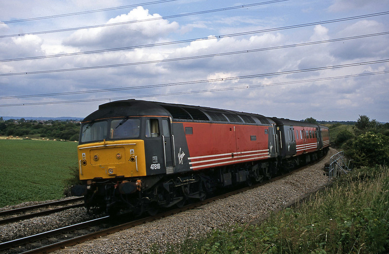 47818, 09.13 Liverpool Lime Street-Plymouth, Westerleigh Junction, near Bristol, 4-7-02.