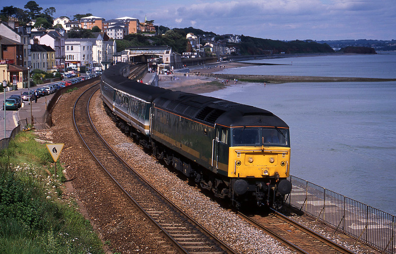 47832, 12.33 London Paddington-Plymouth, Dawlish, 3-7-02.