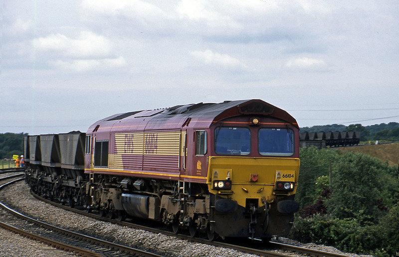 66104, down mgr, Westerleigh Junction, near Bristol, 4-7-02.