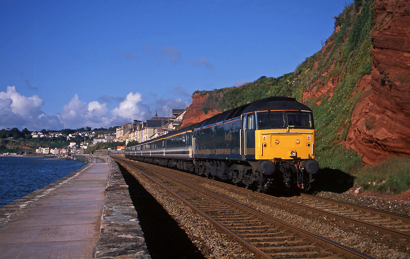 47830, 07.30 Plymouth-London Paddington, Dawlish, 10-7-02.