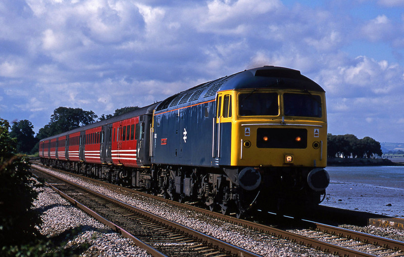 47840, 08.40 Glasgow-Penzance, Powderham, near Exeter, 3-7-02.