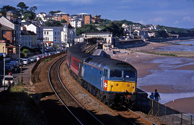 47853, 08.40 Glasgow-Penzance, Dawlish, 16-7-02.