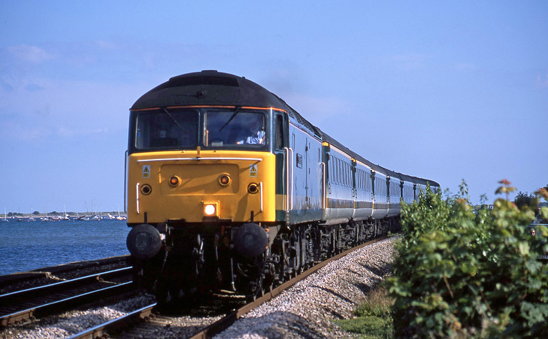 47813, 14.30 Penzance-London Paddington, Starcross, 21-7-02.
