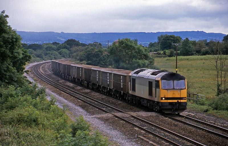 60095, 10.30 Exeter Riverside Yard-Westbury Yard, Cogload, 8-7-02.