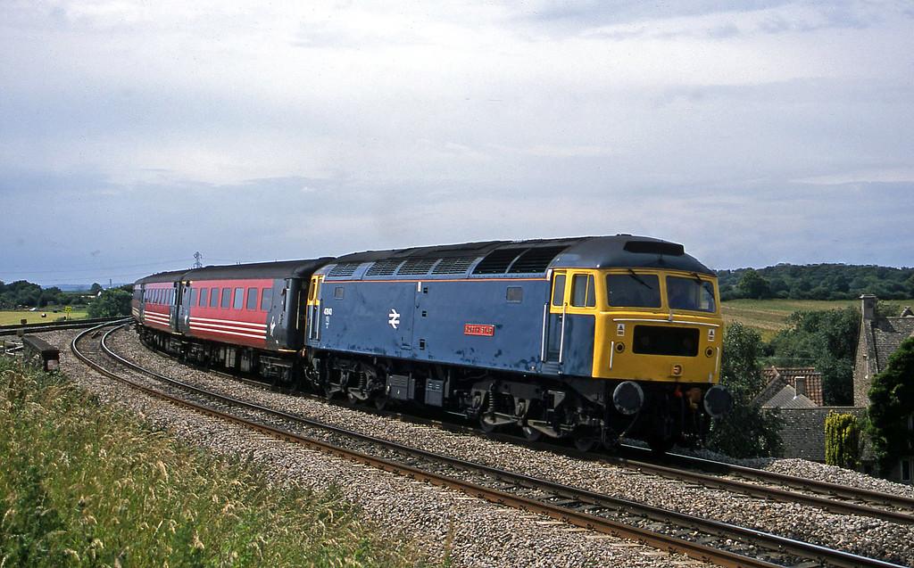 47840, 08.48 Penzance-Manchester Piccadilly, Westerleigh Junction, near Bristol, 4-7-02.