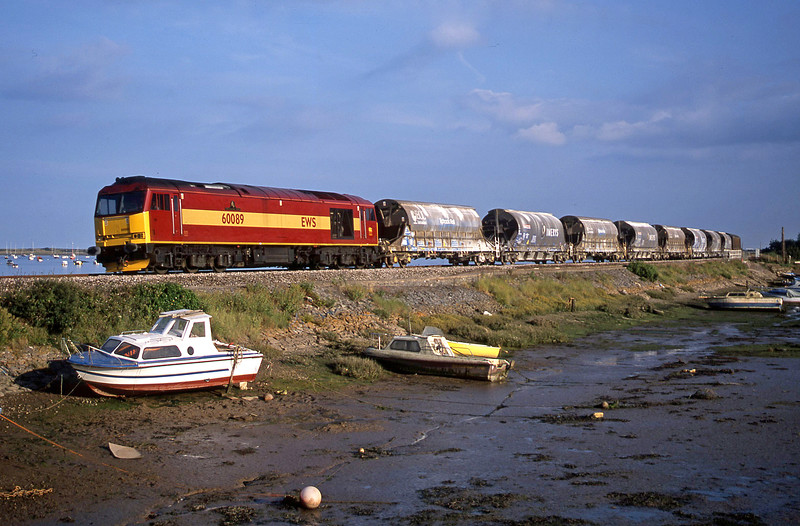 60089, 16.55 St Blazey-Cliffe Vale, Cockwood Harbour, near Starcross, 29-7-02.