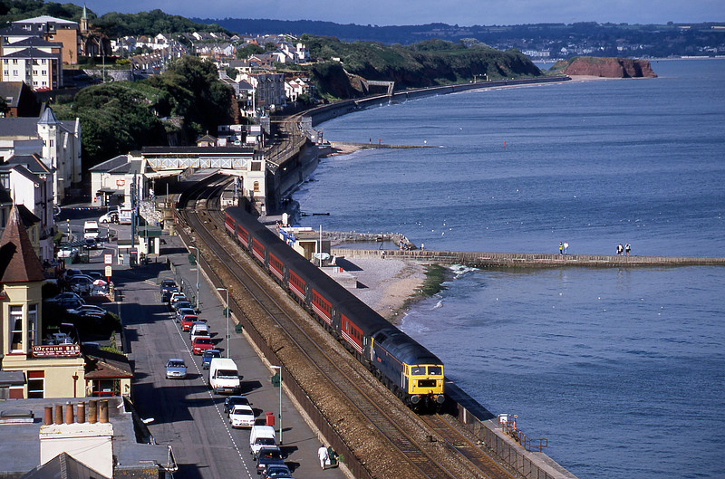 47840, 08.40 Glasgow-Penzance, Dawlish, 23-7-02.