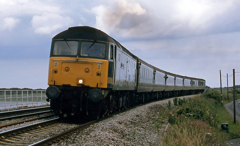 47813, 15.40 Paignton-London Paddington, Cockwood, near Dawlish Warren, 13-7-02.