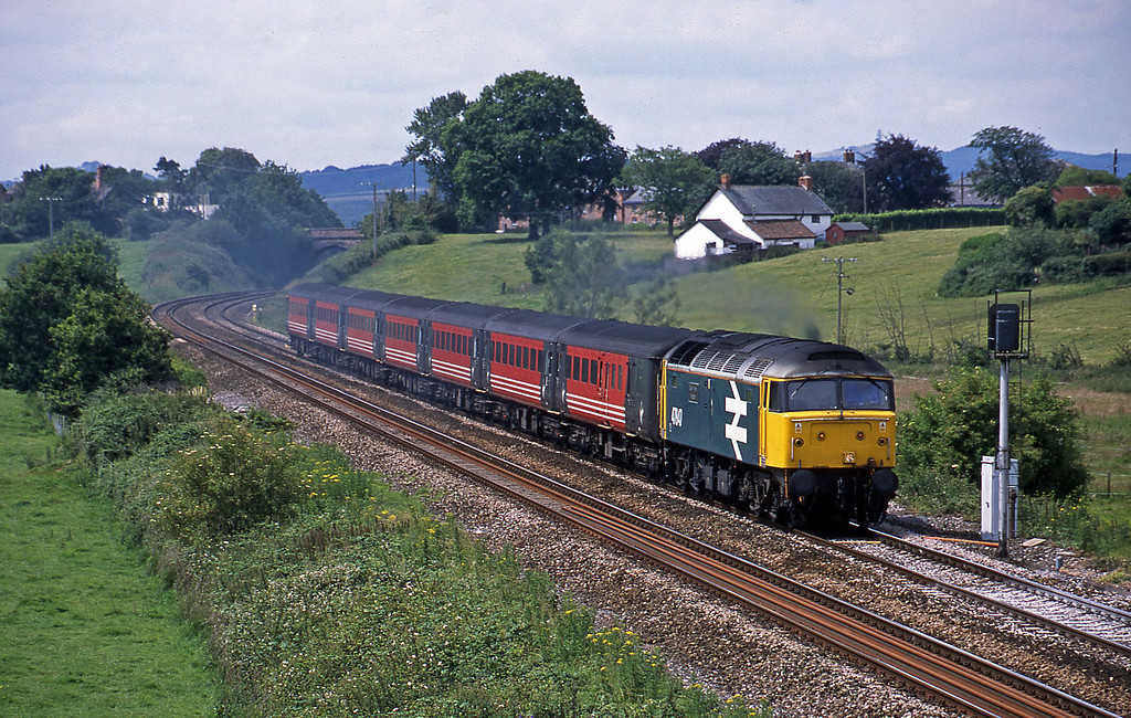 47847, 08.48 Penzance-Manchester Piccadilly, Rewe, near Exeter, 6-7-02.