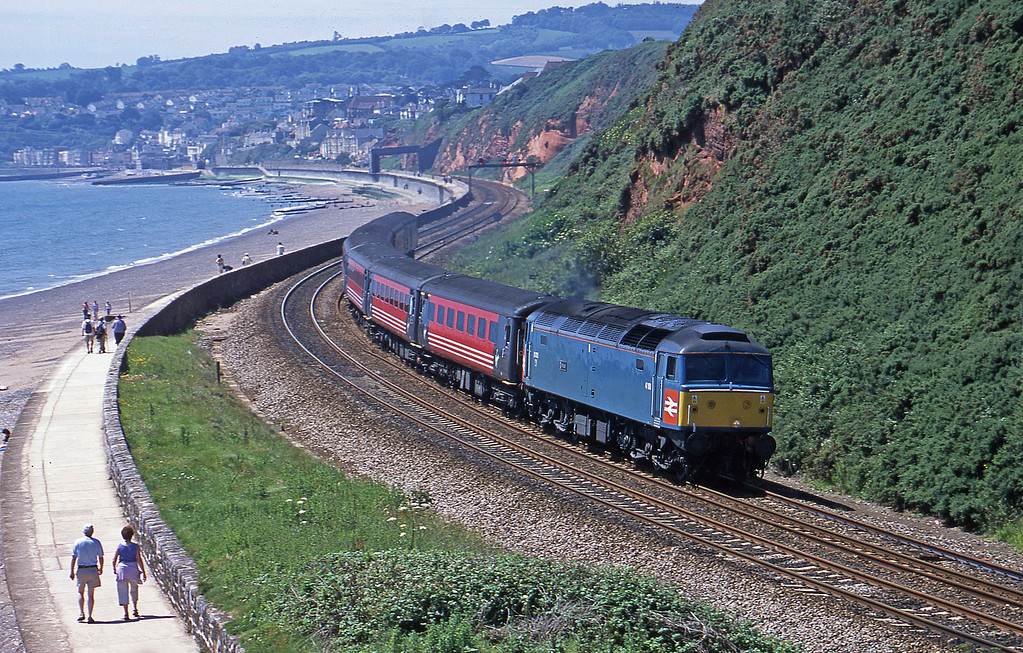 47853, 11.50 Plymouth-Liverpool Lime Street, Dawlish Warren, 26-6-02.