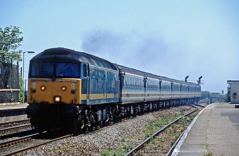 47816, 11.40 Penzance-London Paddington, Dawlish Warren, 1-6-02.
