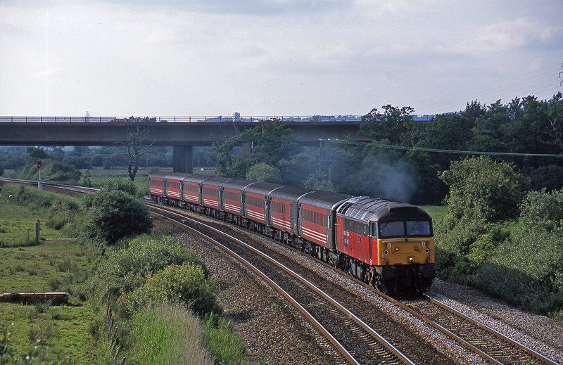 47761, 08.40 Glasgow-Penzance, Exminster, near Exeter, 25-6-02.