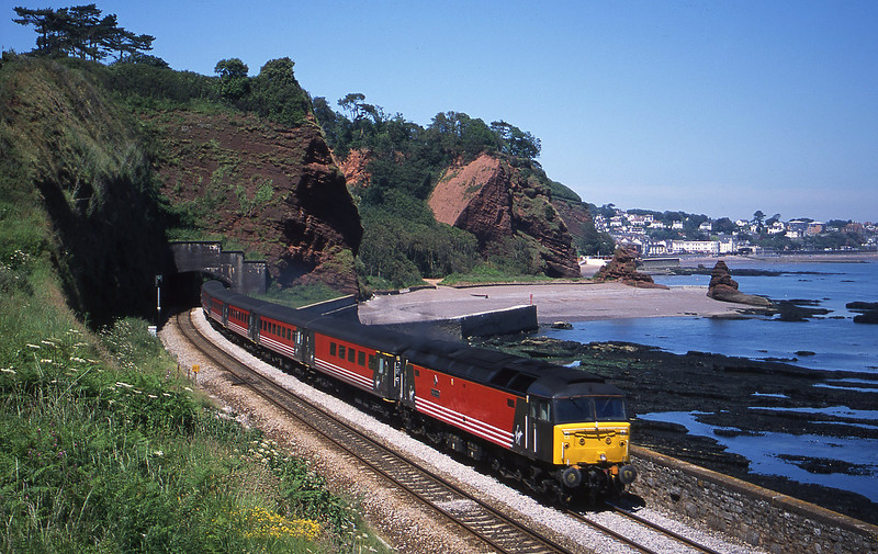 47805, 09.13 Liverpool Lime Street-Plymouth, Horse Cove, Dawlish, 26-6-02.