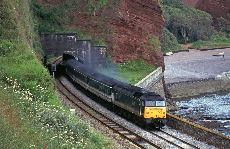 47830, 12.33 London Paddington-Plymouth, Horse Cove, Dawlish, 25-6-02.