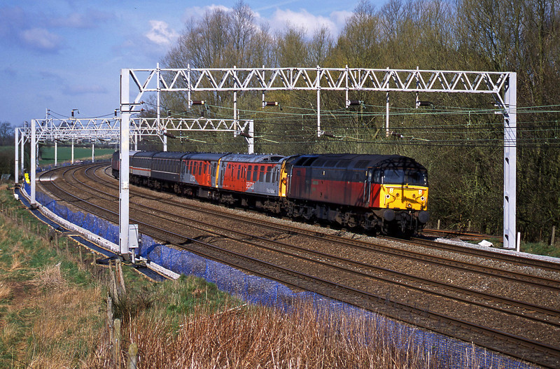47780/47767, up Serco, Heamies Farm, near Eccleshall, Staffs, 26-3-02.