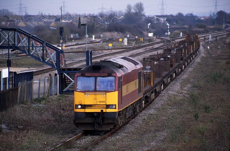 60051, Lackenby-Llanwern, Severn Tunnel Junction, 12-3-02.
