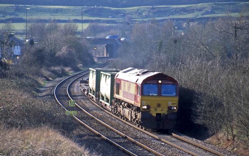 66199, 14.37 Avonmouth Bulk Handling Terminal-Newport Alexandra Dock Junction, Brentry, Bristol, 5-3-02.